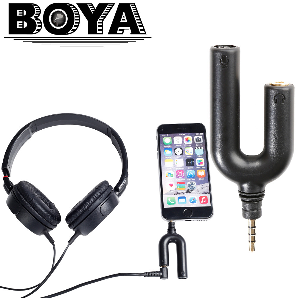 BOYA BY-AUM3 3.5mm TRRS Microphone with 3-position 3.5mm Headset Splitter Adapter for iPhone 6 6s 5 5s 4 4s iPad iPod Touch(China (Mainland))