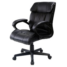 PU Leather High Back Executive Desk Task Office Chair Black(China (Mainland))