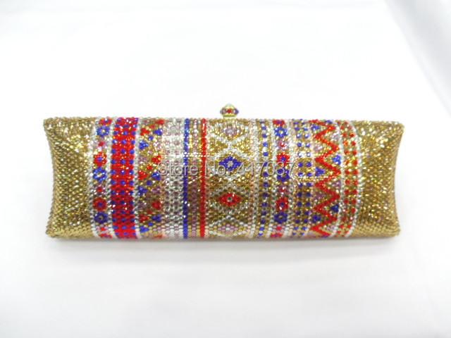 735TD Crystal Lady fashion Bridal Night Metal Evening purse clutch bag case handbag<br><br>Aliexpress