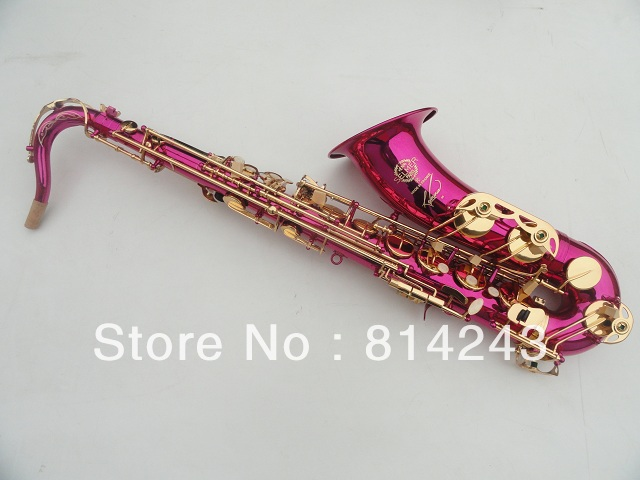 France Henri Selmer Bb Tenor Saxophone Instruments Reference 36 Drop B Saxophone Surface Gold Lacquer Pink Body Professional Sax(China (Mainland))