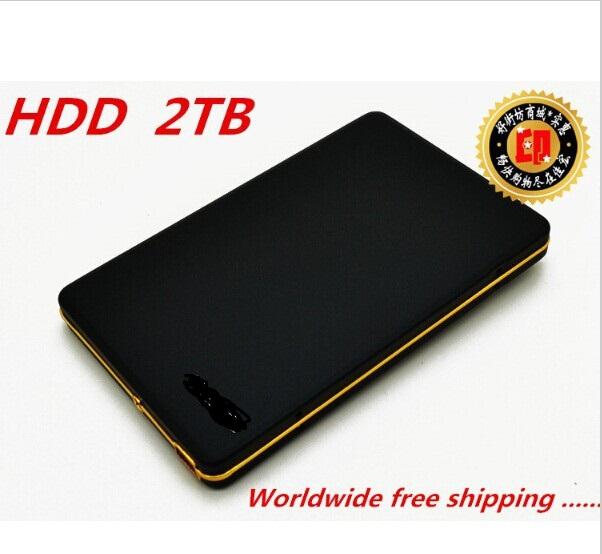"The New 2016 Hard disk 2 TB hdd 2.5 ""2.0 Portable USB Hard Drive HDD Black External Hard drives 3 Year giant free shipping(China (Mainland))"