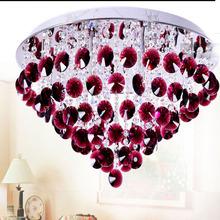 Novelty LED Crystal Ceiling Lights For Bedroom Surface Mounted Cristal Pebble Restaurant Cafe Lamp  AC110V 220V 240V For Kitchen(China (Mainland))