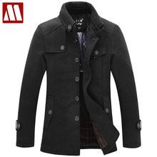 New 2015 winter dress manteau homme sobretudo men wool coat & jackets casacos de la jaqueta masculino overcoat male trench(China (Mainland))