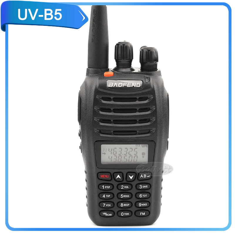 walkie talkie baofeng UV-B5 5W portable two way radio FM UHF/VHF U/V cross band dual watch pofung UVB5 dual display dual standby(China (Mainland))