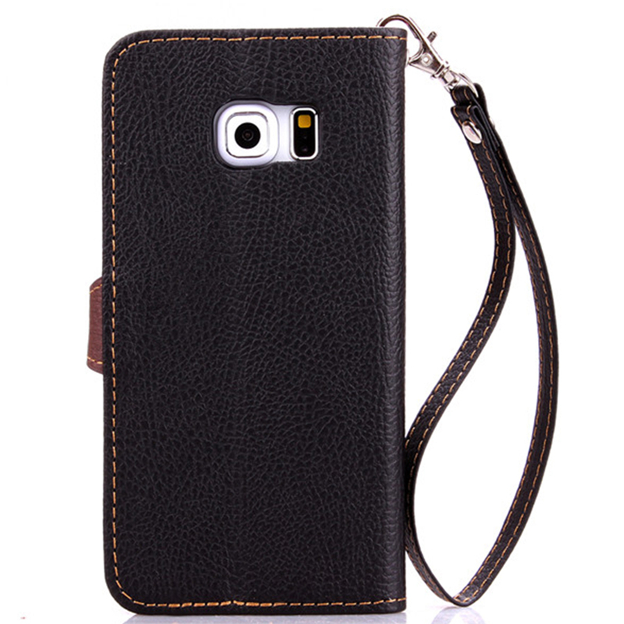 China Universal Cell Phone PU Leather Case Manufacturers With Card Holder+ Strap Phone Cover For Samsung S6 Edge For iPhone(China (Mainland))