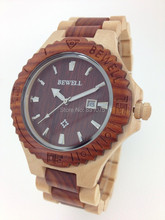 Free shipping 2014 New Fashion Wooden Watch Bewell Natural American Maple Wood Watch Support Wholes Drop