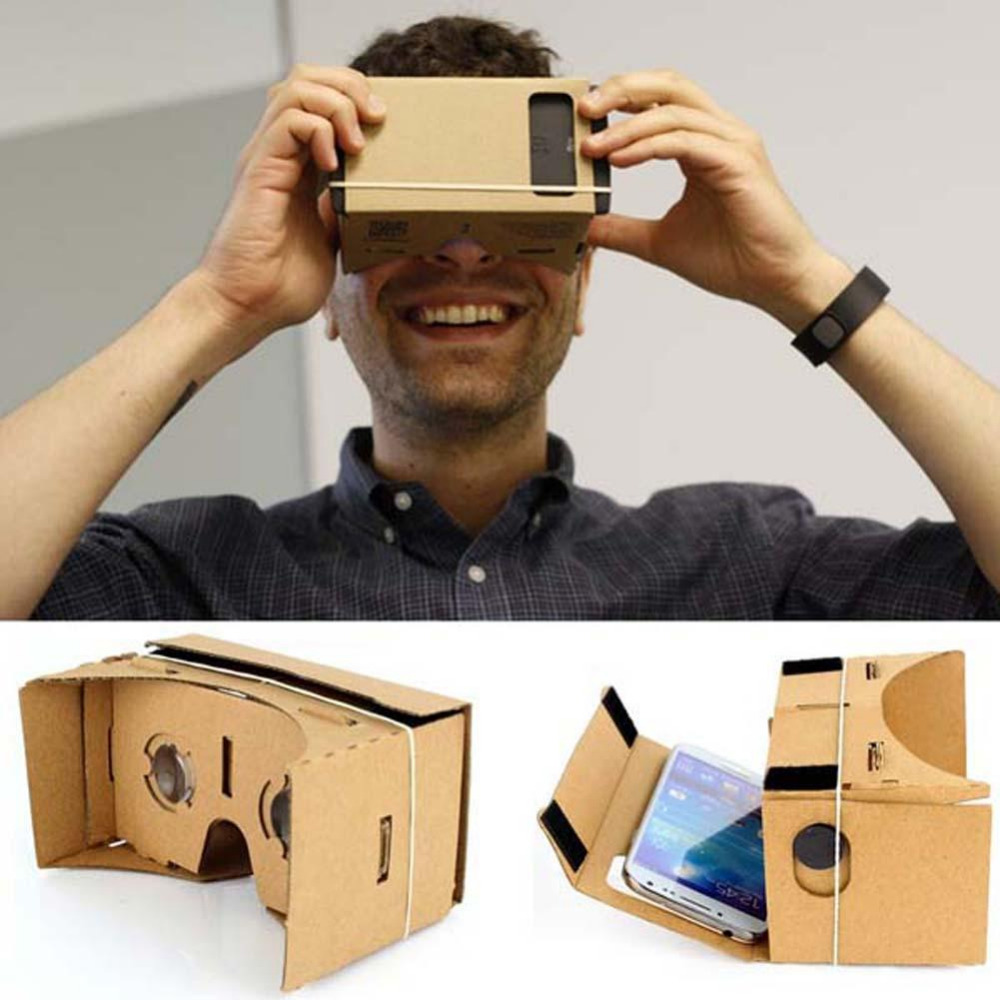 "High quality DIY Magnet Google Cardboard Virtual Reality VR Mobile Phone 3D Viewing Glasses For 5.0"" Screen Google VR 3D Glasses(China (Mainland))"