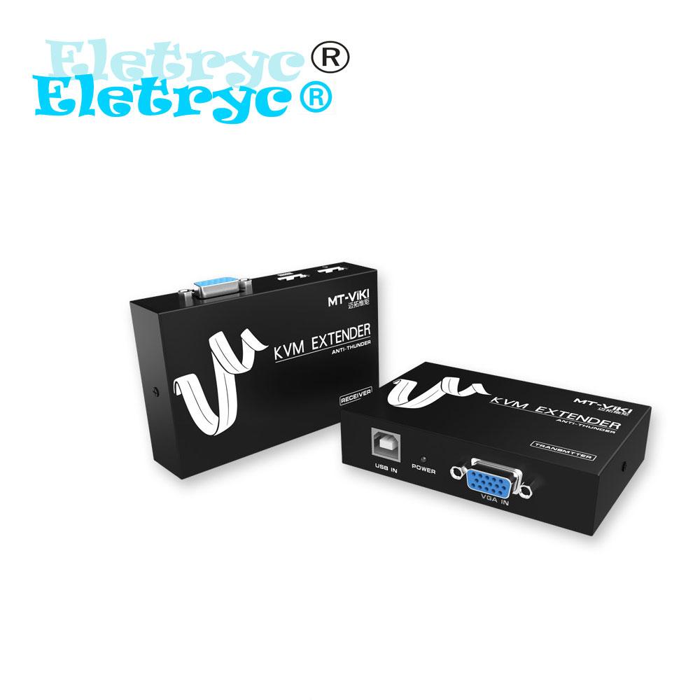 Eletryc MT-100UK-U 100 Meter KVM Extension Keyboard Video Mouse Repeater Adapter VGA USB Extender via UTP CAT RJ45 LAN cable(China (Mainland))