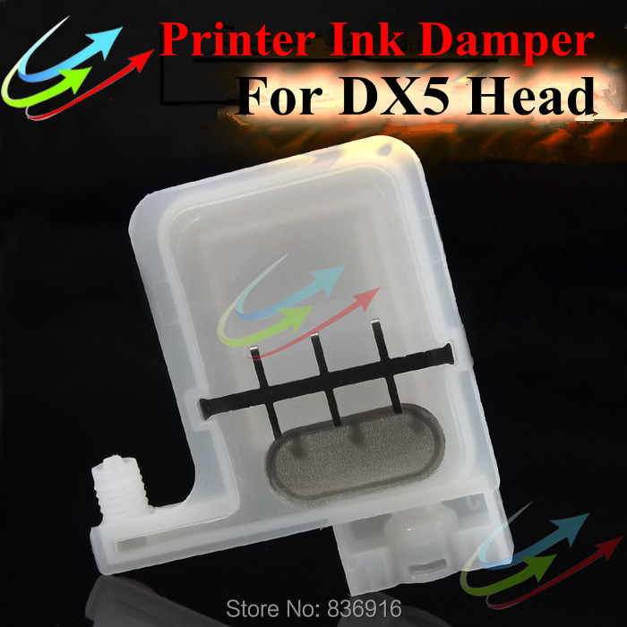 10 pcs printer big damper with square head for Epson DX5 printhead Wit Color Infinity Xenons DX5 printhead(China (Mainland))