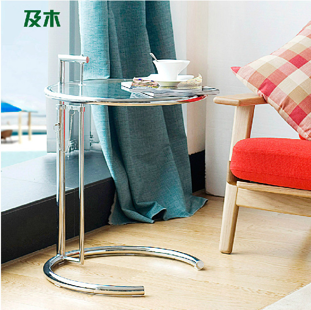 Modern simple fashion furniture/ metal design glass /stainless steel side table / console table/coffee table(China (Mainland))