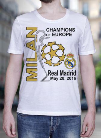 Hot 2016 T-shirt Reals MADRIDES La Undecima Shirt Champions League Winners 2016 TShirt Ronaldo(China (Mainland))