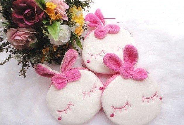 6PCS/LOT Kawaii Metoo Rabbit Plush Coin Purse & Wallet BAG Pouch Case Holder Pendant BAG Pouch Beauty Case Storage Handbag BAG