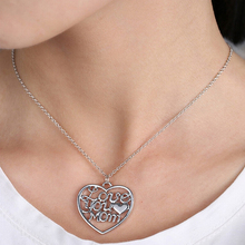 Women Charming Necklace Love Mum Heart Shape Pendant Jewelry Gift for Mother's Day(China (Mainland))