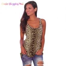 Sexy Women O-Neck Leopard Stretch Slim Tank Tops Sleeveless Casual Club Wear 31(China (Mainland))