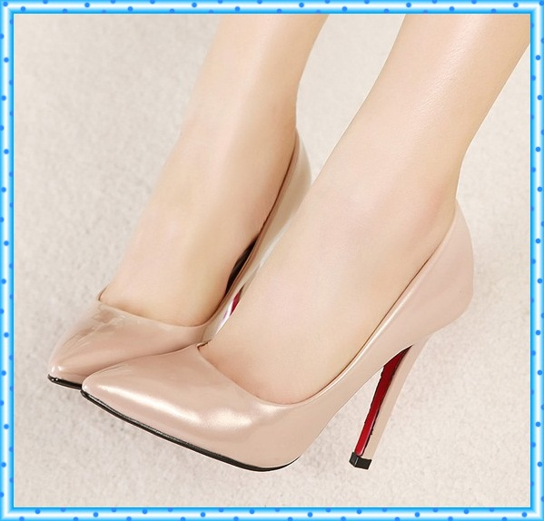 Fashion New Women Pumps High Heels Woman Shoes Sapatos Femininos pointed toe high heels Thin Heels Red Bottoms Sandals C757