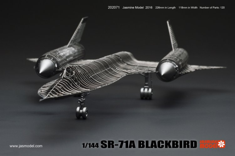 1/144 SR-71A BLACKBIRD 3D Metal assembly model aircraft puzzle Creative intelligence toy Classic collection(China (Mainland))