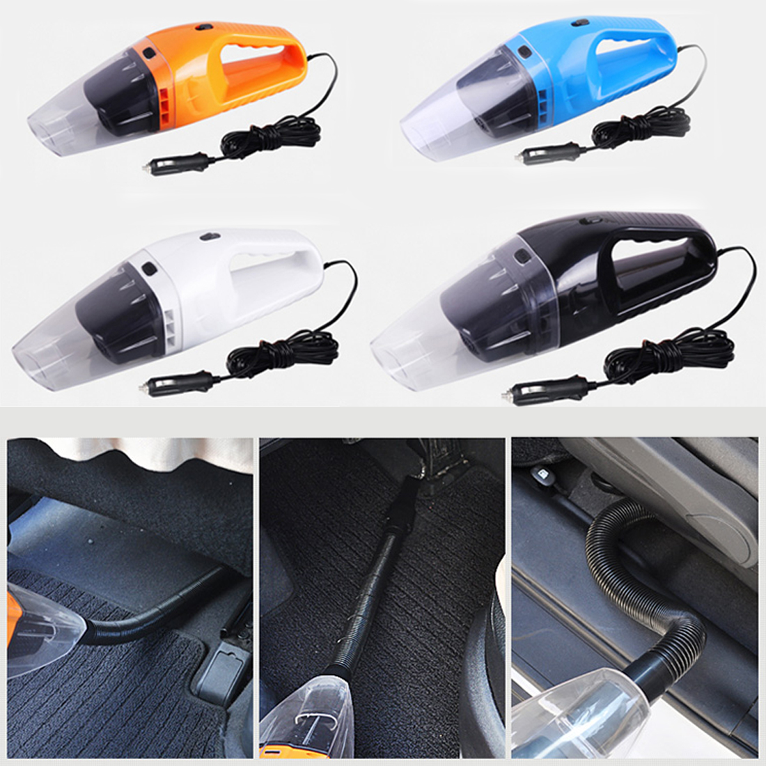 Hot Portable Car Vacuum Cleaner Wet And Dry Dual Use With Power 120W 12V 5 Meters Of Cable Super absorb Car Waste Auto Part(China (Mainland))