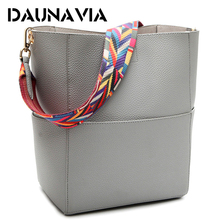 Buy DAUNAVIA Luxury Handbags Women Bag Designer Brand Famous Shoulder Bag Female Vintage Satchel Bag Pu Leather Gray Crossbody ND549 for $13.25 in AliExpress store