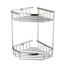 Usherlife, Copper Corner Basket Chrome Polishing Bathroom Shelf Dual Layers Shower Shampoo Holder Kitchen Accessories