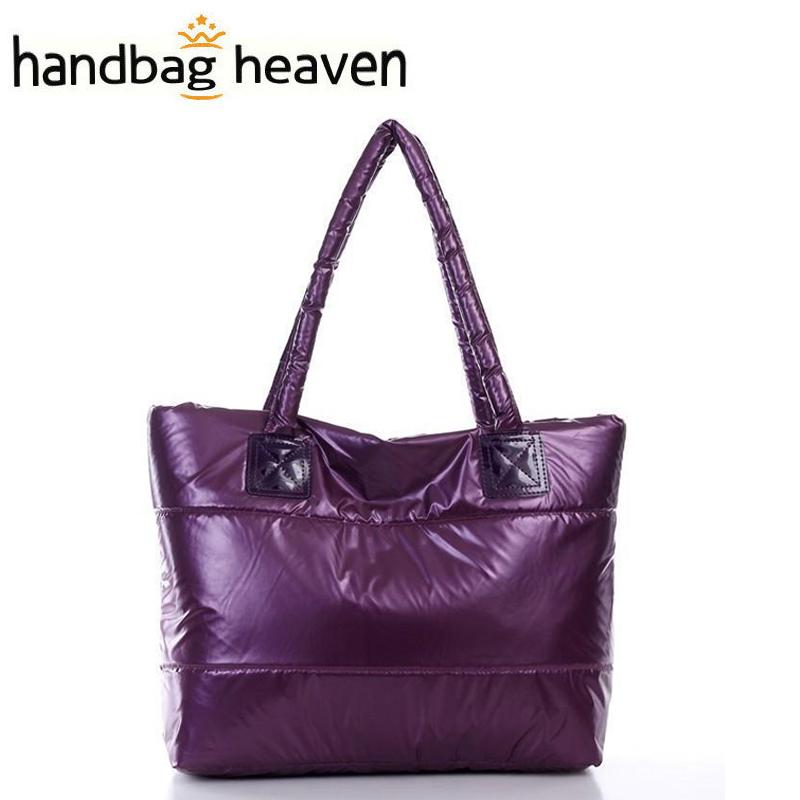 Women Handbag Winter Cotton Fashion 9 Color Woman Shoulder Bag Warm Handbags Leisure Feather Tote Russian Style(China (Mainland))