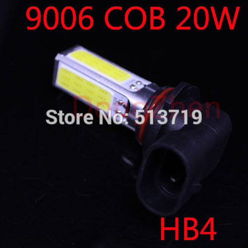 2014 new 1X 9006 4COB 20W Chip Board High Power Car LED SMD auto Fog Light DRL Super Bright Bulb Xenon White Car Styling