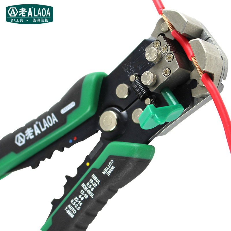 LAOA Automatic Wire Stripper Pliers 22-10AWG Network Tools Stripping Wires Electrician Hand Tool Terminal Crimpping Tool(China (Mainland))