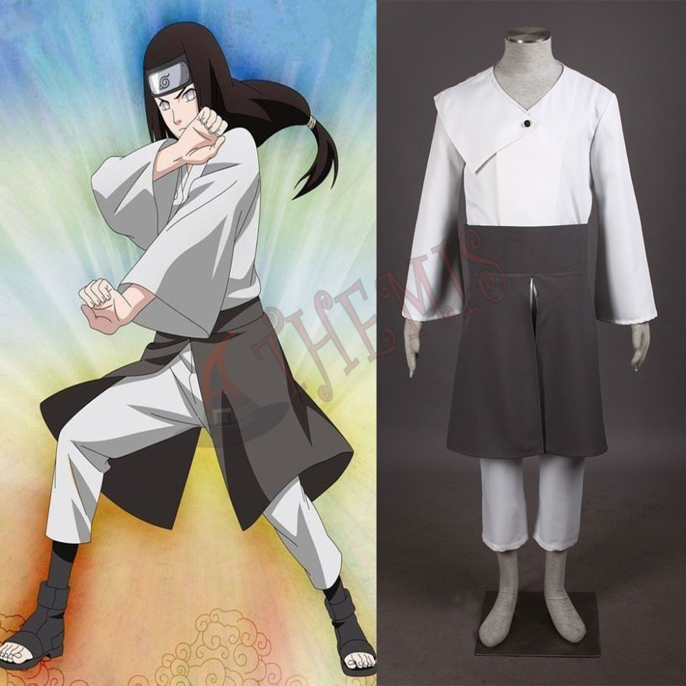 Athemis Custom Made Naruto Cosplay Costumes Same as Anime Character Hyuga Neji Halloween Set Free Shiping(China (Mainland))