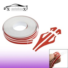 12mm x 9800mm Red White Car Auto Adhesive Tape Stripe Sticker Discount 50(China (Mainland))