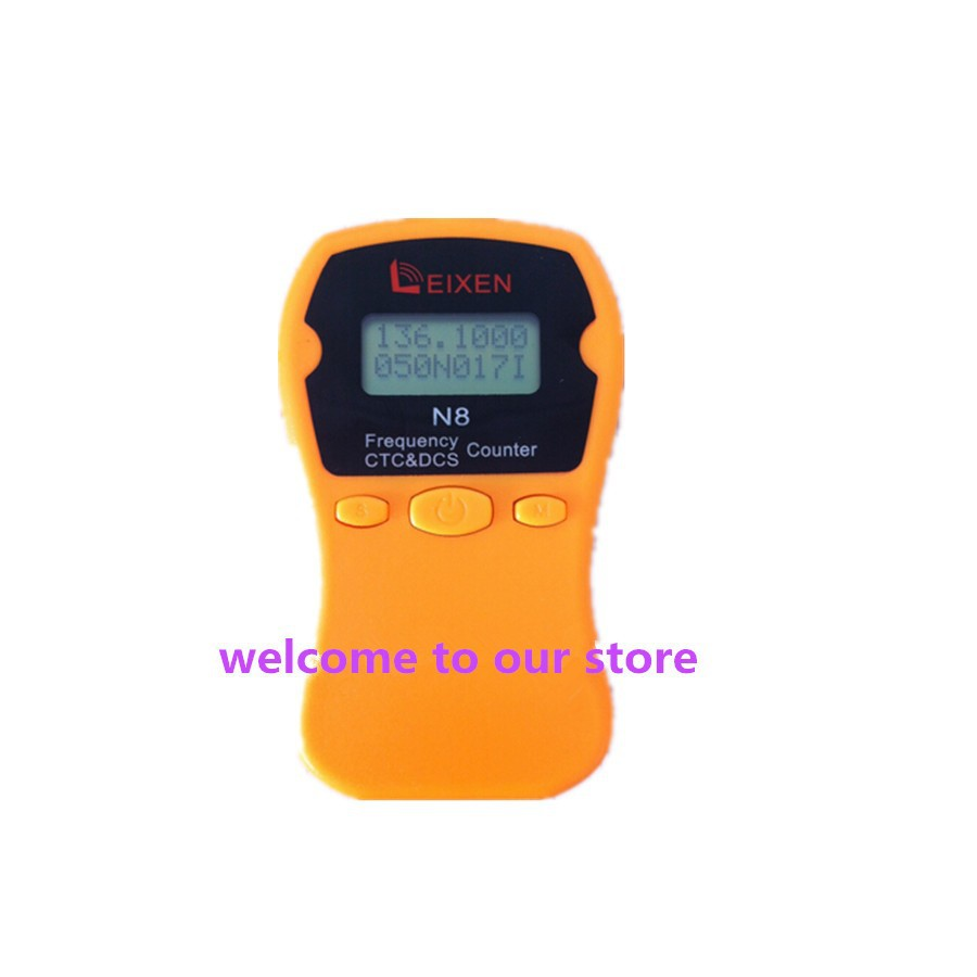 new 2014 n8 hand held frequency counter meter color yellow  suit for ham radio  walkie talkie DC's Range Vent DC's Range Manual