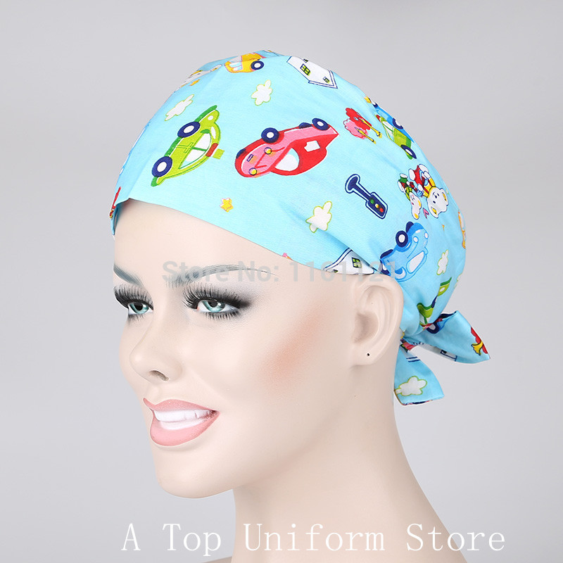 2015 Jalecos Hospital Surgical Cap Medical Scrub Caps for Women Doctors And Nurse ,restaurant ,kitchen Working 100% Cotton B147(China (Mainland))