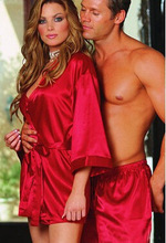 Plus-Size Long-Sleeved Sexy Lingerie Sleepwear Nightgown In Europe And America Britain And France America Export Pajamas L1126