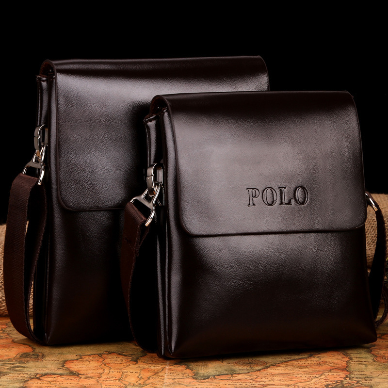 POLO Fashion Business Men Shoulder bag designer handbag genuine leather bag men messenger crossbody bags bolsas casual men bag(China (Mainland))
