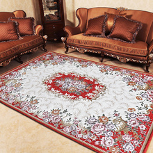 Fashion coffee table living room carpet modern brief bed blankets washed cotton embroidered floor mats(China (Mainland))