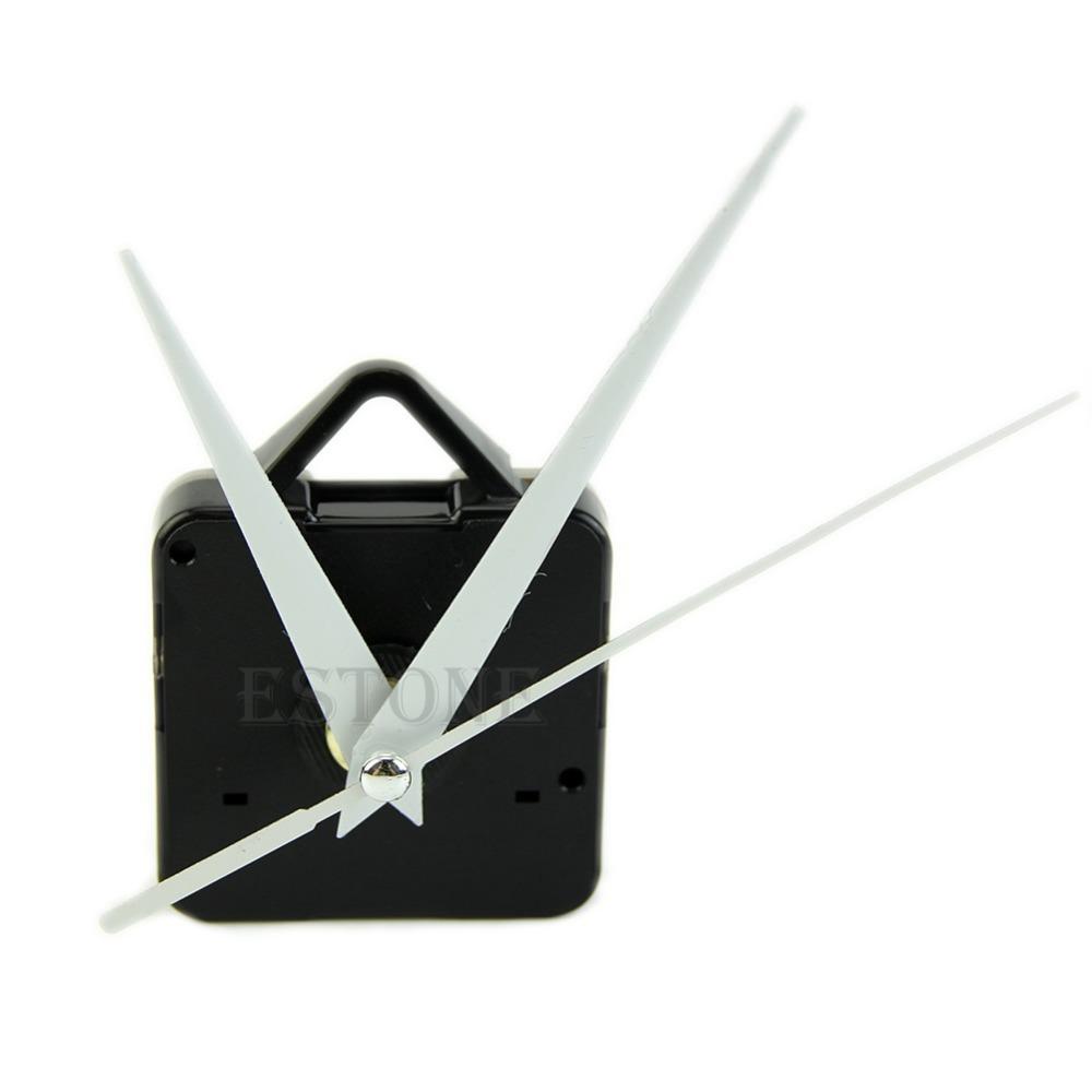 J35 Free Shipping Black Quartz Wall Clock White Hands Movement Mechanism DIY Repair Tool Parts Kit(China (Mainland))