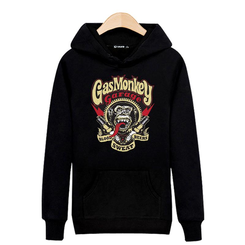 Fashion Gas Monkey Hooded New Hoodies Men Brand Designer Mens Sweatshirt Men in Hooded Sweatshirt Men 3xl Black/Gray XXS(China (Mainland))