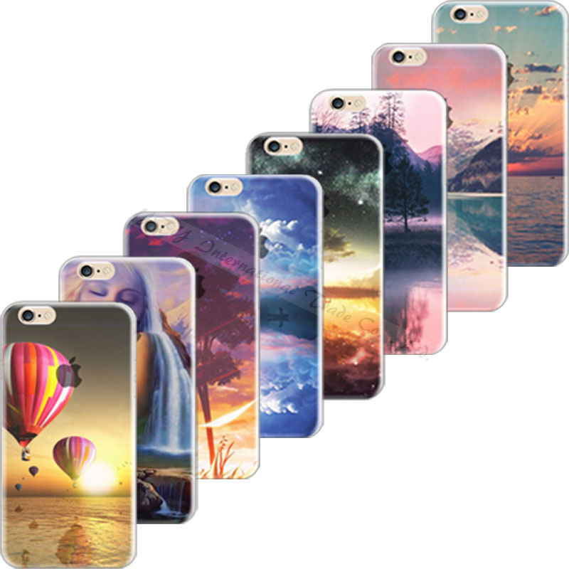 Top Popular Cover For Apple iPhone 5C iPhone5C Case Cases Soft TPU Silicon Mobile Phone Shell Painted Scenery DTK KTH ANP XKJR(China (Mainland))
