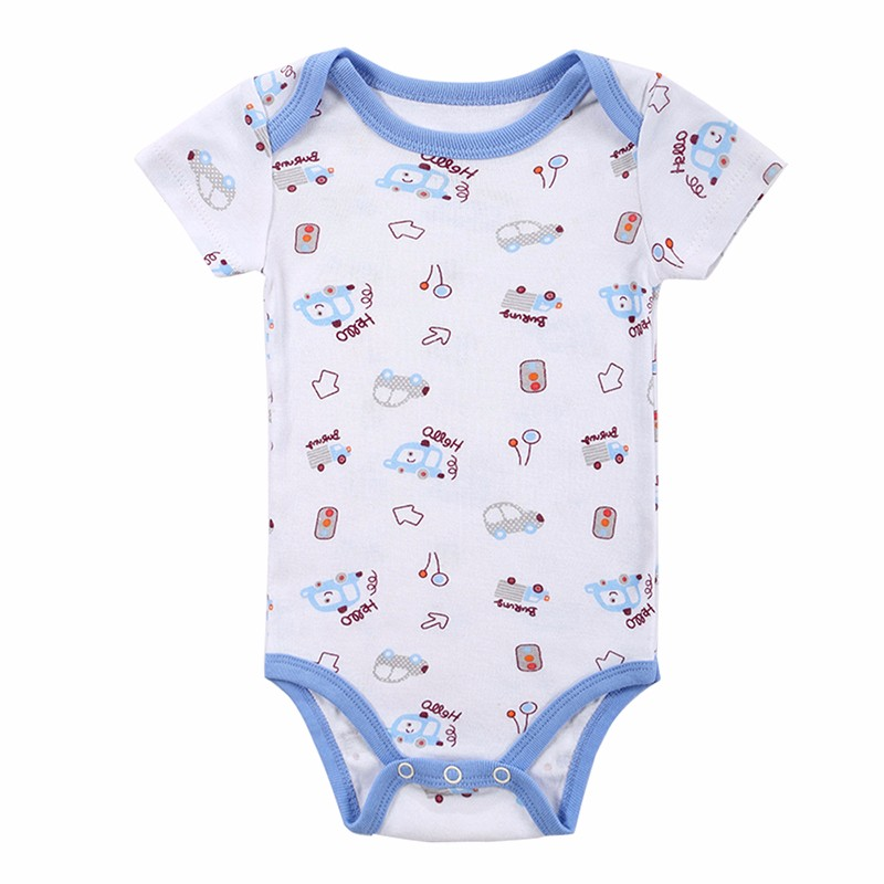 20 STYLES Baby Bodysuits Boys Girls Baby Clothing Cartoon Printed Infant Jumpsuits Summer Overalls Cotton Coveralls Fashion Wear (6)