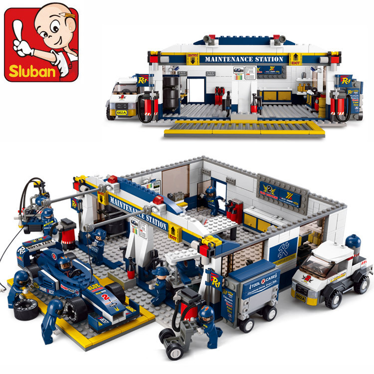 Sluban F1 Racing Car 741pcs Educational Bricks Toy Without orignial Box Children DIY Kids Toys Christmas compatible with lego(China (Mainland))