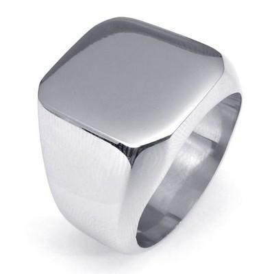 Fashion Men s High Polished Signet Solid ring 316L Stainless Steel Biker Ring for men Men