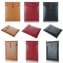 Brown PU Leather Sleeve Bag Laptop Case Cover (3 colors ) For Air 11 13 Pro 13 15 inch Free Shipping(China (Mainland))