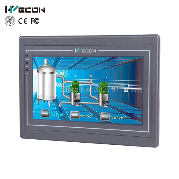 Wecon 7 inch advanced industrial touch screen panel pc support WINCE and LINUX system(China (Mainland))