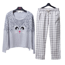 Song Riel new fall cartoon couple long sleeved pajama suit tracksuit Ms M Sleeper if the