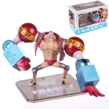 Free Shipping Anime Cartoon One piece zero Two Years Later New World Franky action figure toys PVC dolls decoration(China (Mainland))