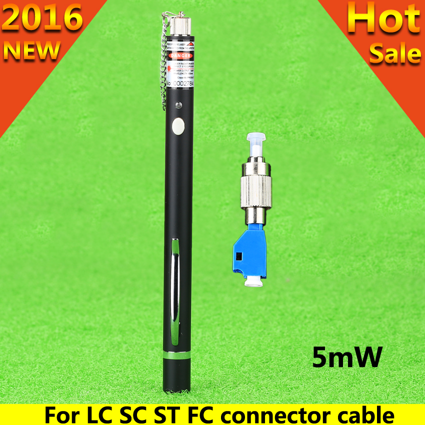FTTH laserpen style optic laser tester LC/FC/SC/ST Adapter fiber optica cable visual fault locator 1MW CATV(China (Mainland))