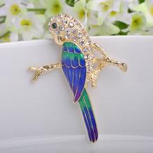 Sapphire Jewelry Collares Blue Enamel Pin Brooch Fine Children Bijoux Brand Rhinestone Broches Bijuteriras Women Broch Broaches