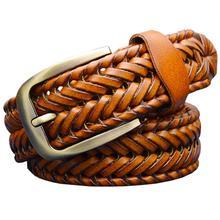 Genuine leather belt male Braided strap for man Fashion Designer mens belts luxury 2015 High quality girdle for jeans men 120CM