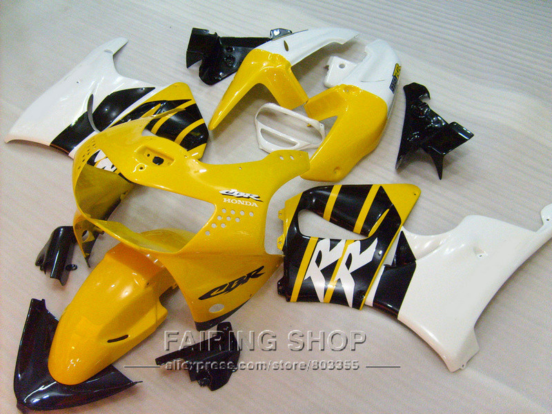 Yellow white CBR900RR 919 1998 1999 For honda Fairings ( Fairing kit ) cbr 900rr 98 99 CN04