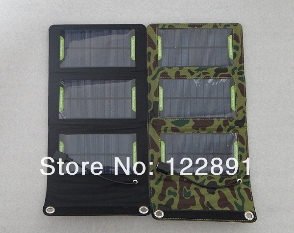 5W 900Mah Foldable Solar Panel Charger Solar Charger Mobile Power Battery Charger For Cell Phone FUSB Output Free Shipping(China (Mainland))