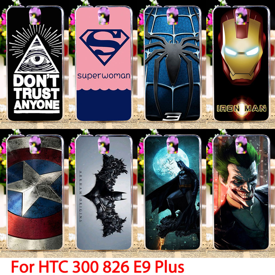 Soft Phone Cases HTC One E9 Plus D826 300 301E D826t D826w E9+ PLUS Comic Hard Cell Back Covers Housings Sheaths Skins Hood  -  TAOYUNXI Official Store store