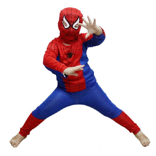 Hot Party Supplies Spiderman Halloween Costume For Kids Children Cosplay S/M/L Christmas Costume Wholesale PW0010(China (Mainland))